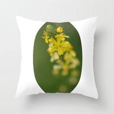 Yellow rising Throw Pillow