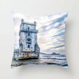 Belém Tower, Lisbon (Portugal) Throw Pillow