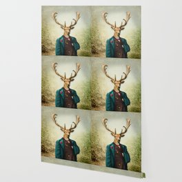 Lord Staghorne in the wood Wallpaper