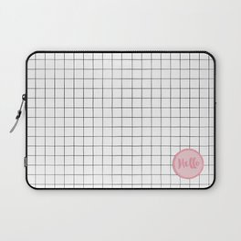 Drawn Grid with Badge Laptop Sleeve