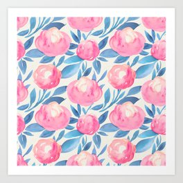 Watercolor pattern 1 Art Print