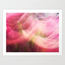 Swinging tulips Art Print