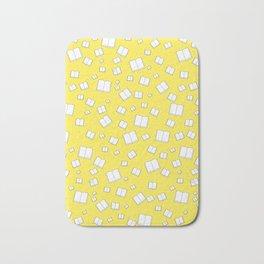 Sunny Yellow Flying Books Pattern Bath Mat