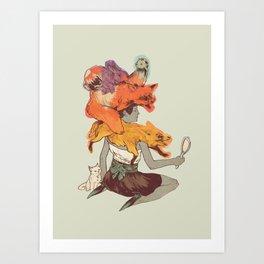 Fur Fashion Art Print