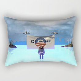 Fly:Oh yes he cares Rectangular Pillow