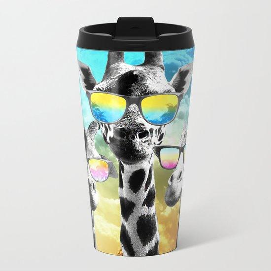 Crazy Cool Giraffe Metal Travel Mug