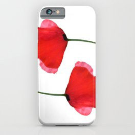 Two red poppies iPhone Case