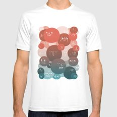 Blood Cells White Mens Fitted Tee MEDIUM