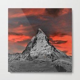 Matterhorn of Zermatt, Switzerland at sunset Metal Print