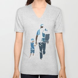 father and son Unisex V-Neck