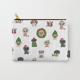 Christmas Puppies Carry-All Pouch
