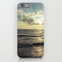 sunset over lake erie iPhone Case