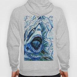 Hungry Shark Drawing Hoody