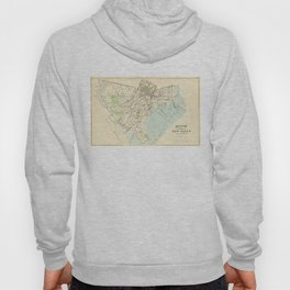Vintage Map of New Haven Connecticut (1893) Hoody