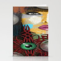 trippy Stationery Cards featuring Trippy by Müge Başak