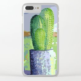 Cactus Family Life Clear iPhone Case