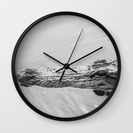 Gator Out For A Swim Wall Clock