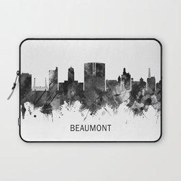 Beaumont Texas Skyline BW Laptop Sleeve