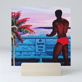 No Jumping From Pier Mini Art Print