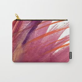 Tigerlily: a vibrant, colorful, watercolor piece in pink, purple, orange, and reds Carry-All Pouch
