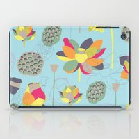 lotus flower iPad Cases featuring Lotus by Ferntree Studio
