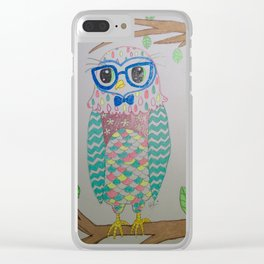 Lovely Owl Clear iPhone Case