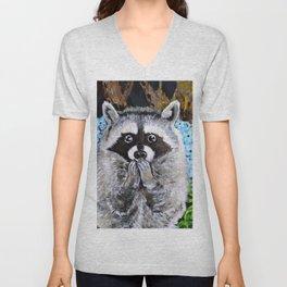 Mischief the Raccoon Unisex V-Neck