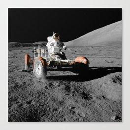 Apollo 167 Of The Lunar Rover, nasa Canvas Print