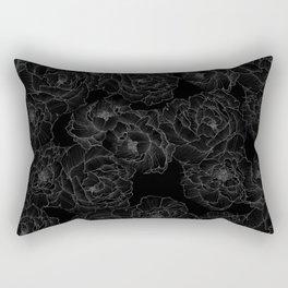 Peony Flower Pattern III Rectangular Pillow