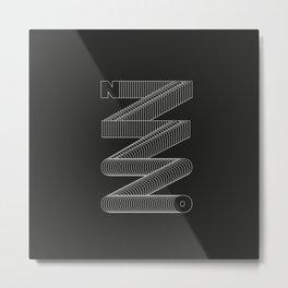 n\\\o Metal Print