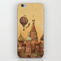moscow iPhone & iPod Skins featuring Trip to Moscow by Terry Fan