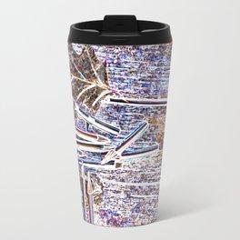 Pop Art Digital Photo Colored Pencils Still Life jjhelene design Metal Travel Mug