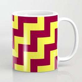 Electric Yellow and Burgundy Red Steps RTL Coffee Mug