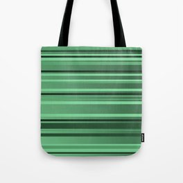 Stripes small only green Tote Bag