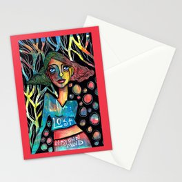 Lost in my own mind Stationery Cards