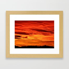 Flame Coloured Sunset Sky Framed Art Print