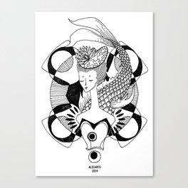 Fishy Lady Canvas Print