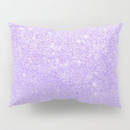 Modern purple sparkles ombre glitter lilac pastel color block Pillow Sham