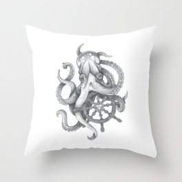 Octopus The Conqueror Throw Pillow