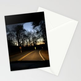 Night Drive in Nashville Stationery Cards