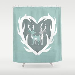 I Love You Deerly Shower Curtain