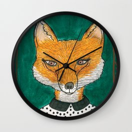 Foxy Fox Wall Clock