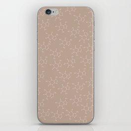 Caffeine pattern-brown iPhone Skin