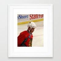 blackhawks Framed Art Prints featuring jonathan toews // chicago blackhawks by Hattie Trott