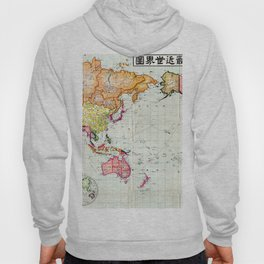 Colorful Antique Map of the World Hoody