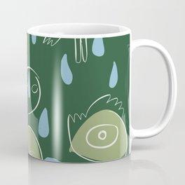 Animal Spirits in the rain with red fishes minimal illustration  Coffee Mug
