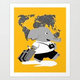 off to see the world Art Print