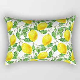 Sunshine lemon pattern Rectangular Pillow