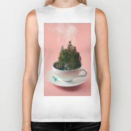 Hot cup of tree Biker Tank