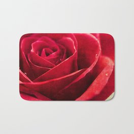 Painted Red Bath Mat